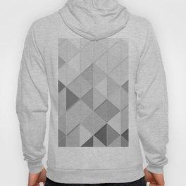 Black and White Geometric Retro Hoody