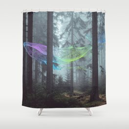 Whale Music in the Forest Shower Curtain