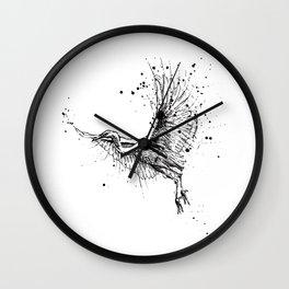 Birds/Egretta Alba Wall Clock