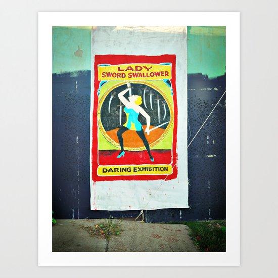 Sword Swallower Art Print