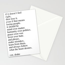 r.m. Drake quote Stationery Cards