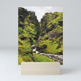 Green Iceland Scene Mini Art Print