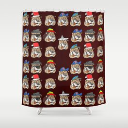 Full dogs Shower Curtain