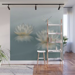 Lotus and Dragonfly Wall Mural