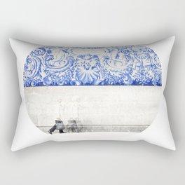 walking in a sea of memories Rectangular Pillow
