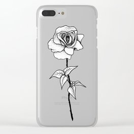 Lady Rose Clear iPhone Case