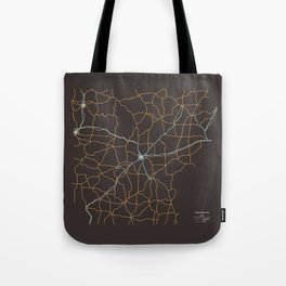 Arkansas Highways Tote Bag