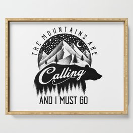 THE MOUNTAINS ARE CALLING Serving Tray