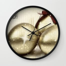 Gold Easter Wall Clock