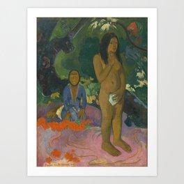 Paul Gauguin - Parau na te Varua ino (Words of the Devil) Art Print