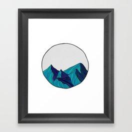 Geometric mountains Framed Art Print