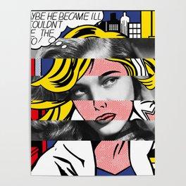 Roy Lichtenstein's M-Maybe & Lauren Bacall Poster