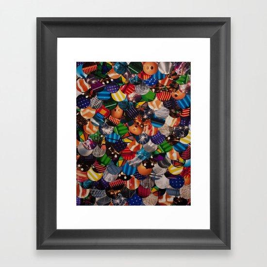 COLLAGE LOVE: Bright Lights Framed Art Print