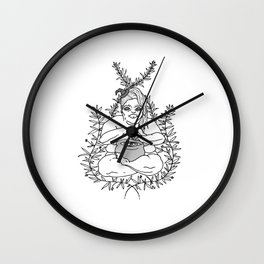 Fat Witchy Wall Clock
