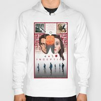 comic book Hoodies featuring Inception: comic-book style poster by Norbert Demeter