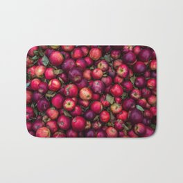 Red summer apples pattern Bath Mat