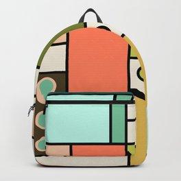 Blocked Modern Cubist Design Backpack