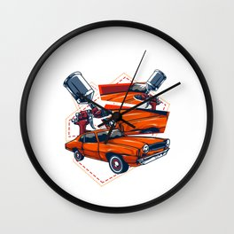 Automotive Paintologist Funny Car Repair Painter Wall Clock