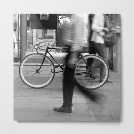 Bicycle is waiting for you Metal Print