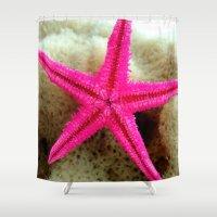 starfish Shower Curtains featuring STARFISH by habish