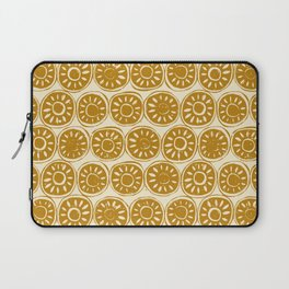 flower block gold ivory Laptop Sleeve