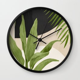 Abstract Art Tropical Leaf 11 Wall Clock