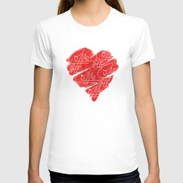 Old heart of coffee V T Shirts T-shirt