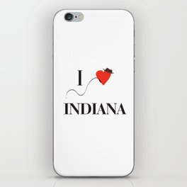I heart Indiana iPhone Skin