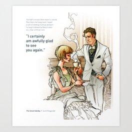The Great Gatsby_see you again Art Print