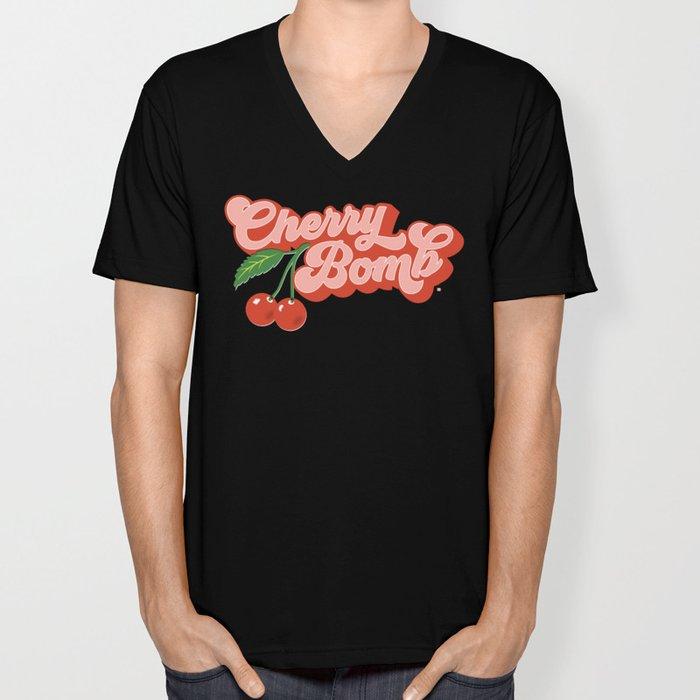 Cherry Bomb Unisex V-Neck