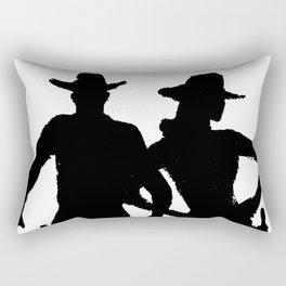 Stockyards Couple Rectangular Pillow