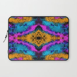indian psychedelic graffiti drawing abstract in pink orange blue Laptop Sleeve