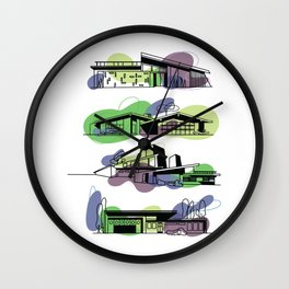 Honey, I'm Home! (Chartreuse) | @makemeunison Digital Art Wall Clock