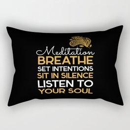 Breathe Listen Your Soul Rectangular Pillow
