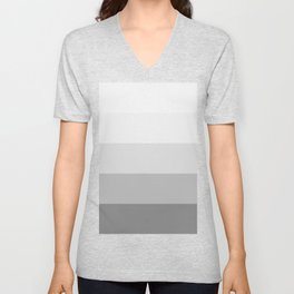 Gray Ombre Stripes Unisex V-Neck