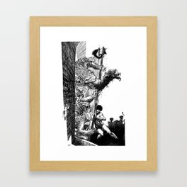 Cats Nightmare Framed Art Print