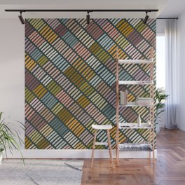 Earthy & warm embroidery pattern Wall Mural