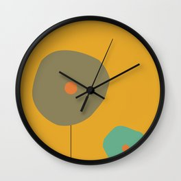 Abstract Retro Pop Art Wall Clock