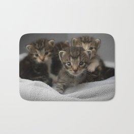 Photo of a group of cuddly kittens Bath Mat