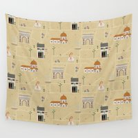 florence Wall Tapestries featuring Florence by Charlotte Langstroth