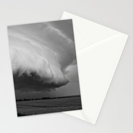 Cape Tryon Vortex Black and White Stationery Cards