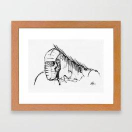 Warbot Sketch #011 Framed Art Print