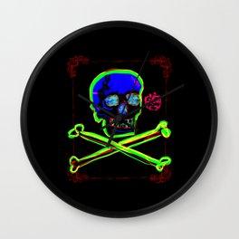 Los Muertos ^ 006 ^ Skull art Wall Clock