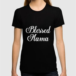 Blessed Mama Mom trendy tees Mom Life Vneck Mama Ladies Mom Gift Idea Baby Shower Gift Mom of Boy Mo T-shirt