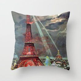 The Eiffel Tower, Paris, France by Georges Garen Throw Pillow
