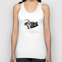 delorean Tank Tops featuring Delorean (The 2015 Collection) by Cal Chan