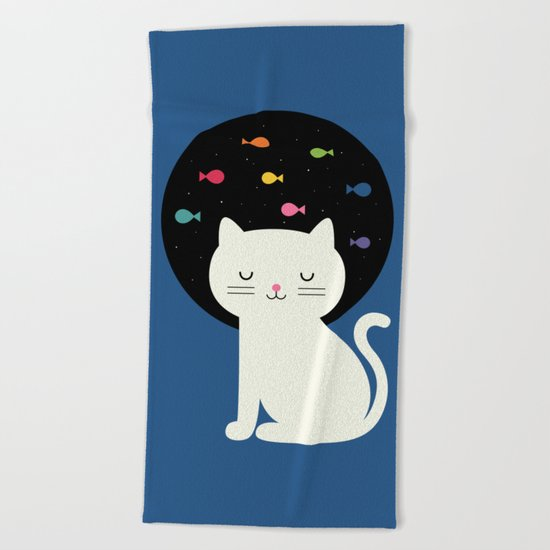 Cats Fantasy Beach Towel