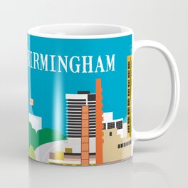 Birmingham, Alabama - Skyline Illustration by Loose Petals Coffee Mug