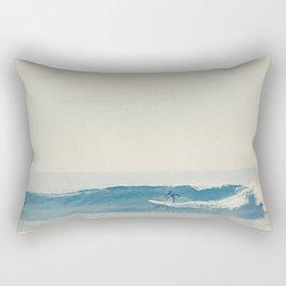 Surfer at Churches Rectangular Pillow