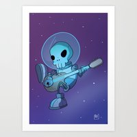 space jam Art Prints featuring Space Jam by Adventuresome